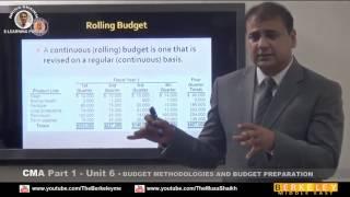 cma part 1 budget methodologies budget preparation review dr musa shaikh