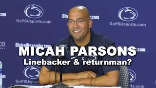 Penn State football's Micah Parsons, linebacker & return man?