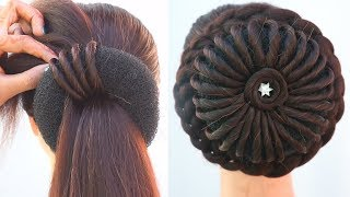 latest bridal juda hairstyle for short hair || easy hairstyles || wedding hairstyles || hairstyles