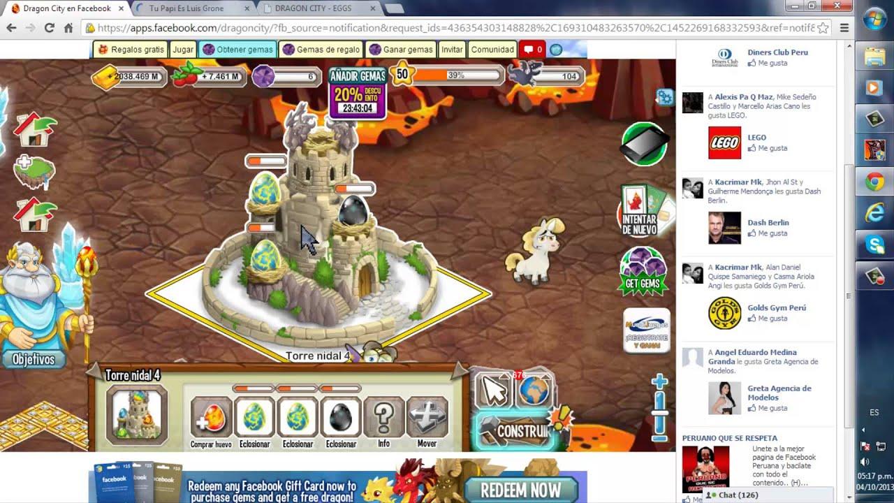 Dragon city | Hack para comprar con 25 gemas Torre Nidal ... - photo#29
