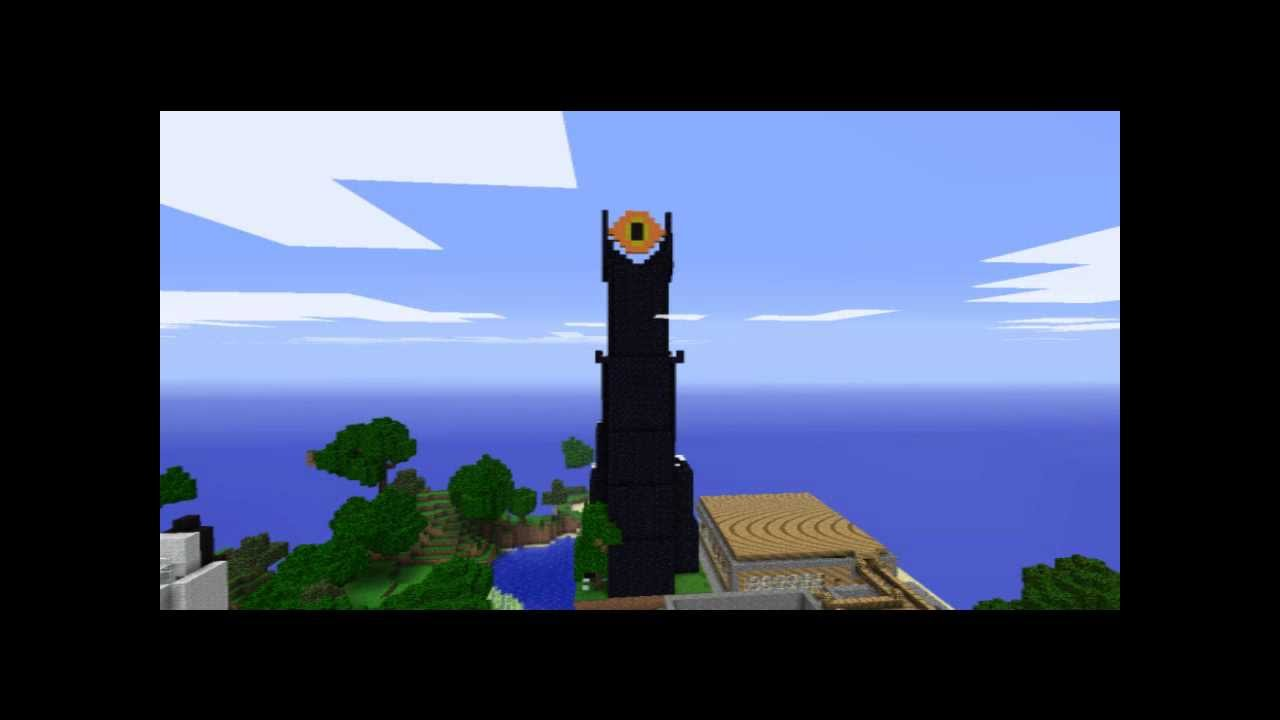 Minecraft Server Creations Ep 4 The Eye Of Sauron YouTube