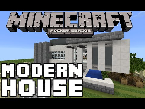 Minecraft pe keralis 39 modern house w redstone youtube for Modern house minecraft pe