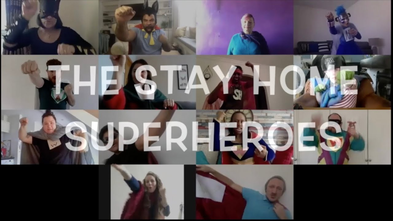 Stay at Home Superheroes in BSL