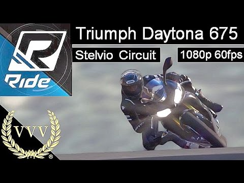 Ride - Triumph Daytona 675 - Stelvio Circuit- 60fps Action