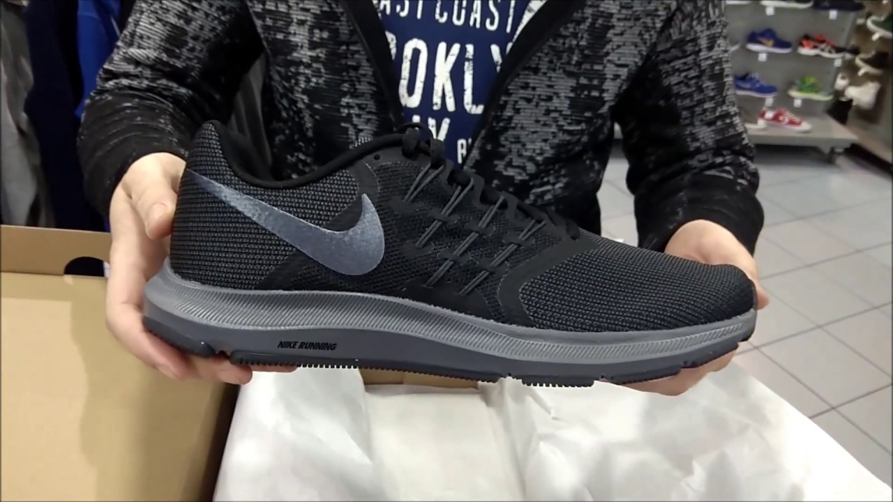 9148cfbfcb500 unboxing new nike run swift (men's black-anthracite version) - YouTube