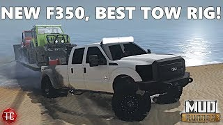SpinTires MudRunner: NEW MODS! Ford F350 Dually, BEST TOW RIG!