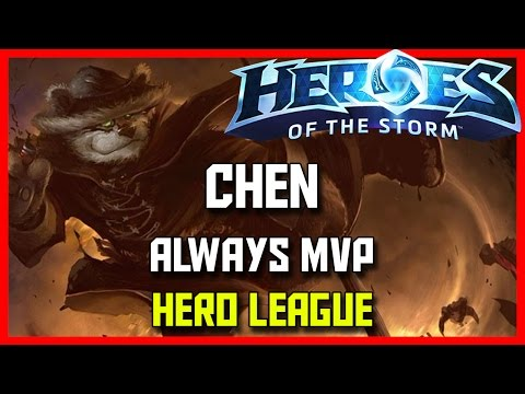 Heroes Of The Storm Chen Gameplay - Chen Always MVP - HotS Chen Hero League Guide
