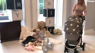 Take a walk with Billie Faiers & the MB200+ Grey Stars Travel System