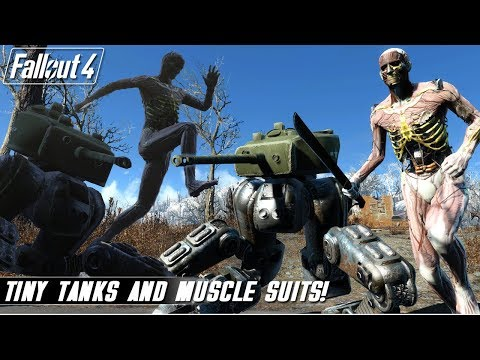 Fallout 4 Mods Weekly - Muscle Suit and Tiny Tanks!