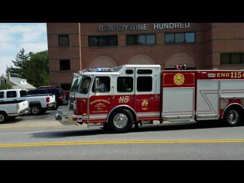 Brandywine Hundred fire company engine 11-5 responding