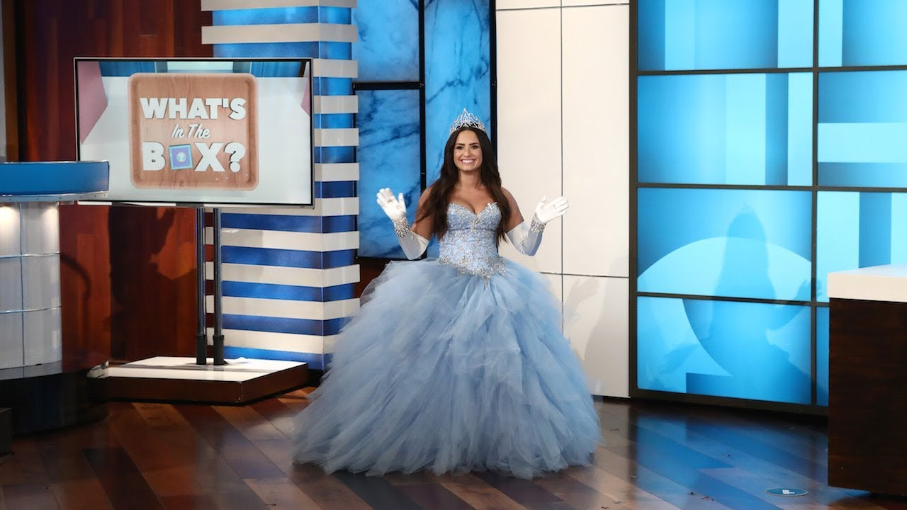 Ellen Plays Whats In The Box With Guest Model Demi Lovato