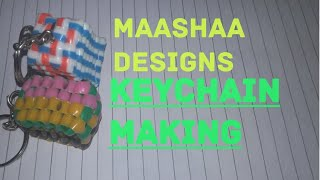 Keychain making with plastic wire easy tutorial