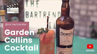 The Garden Collins | Summer Cocktails | The BarTrender Tube