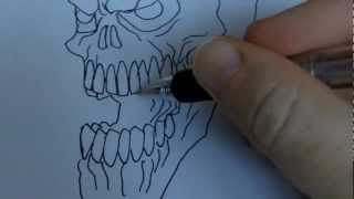 How To Draw A Skull Outline