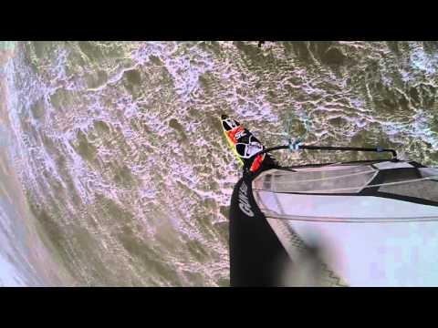 Windsurf jump bail funny