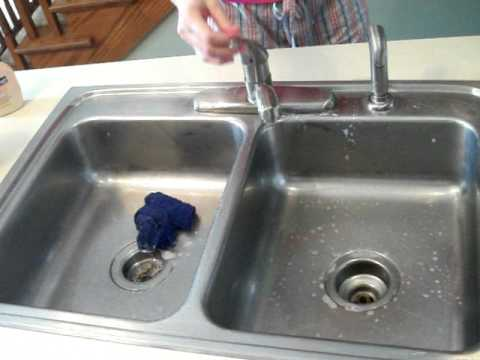 How to clean a stainless steel sink - YouTube