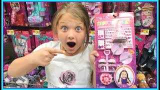 TOY SHOPPING AT WALMART FOR TOYS! BABY DOLL ROOM SET UP, Setting up dolls room