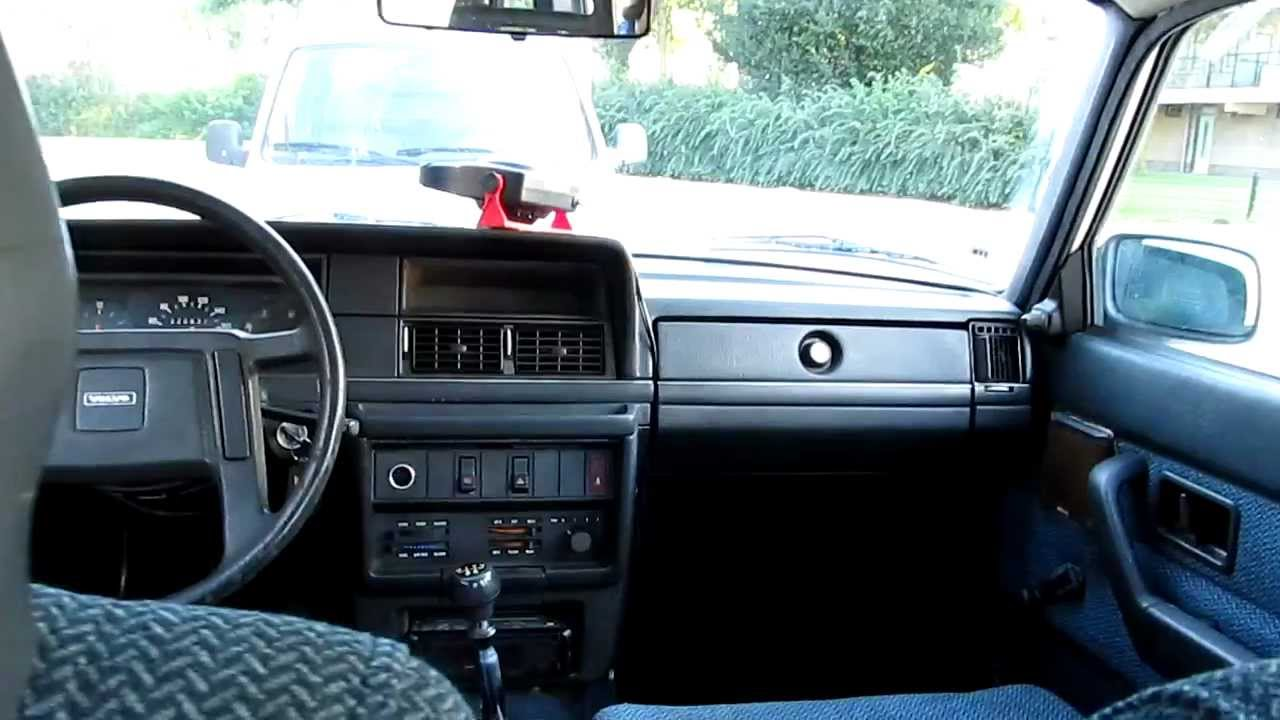 Volvo 240 Sedan View From The Rear Seat Walk Around Interior