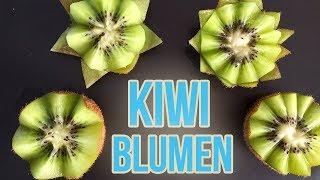 Kiwi Blumen schnitzen I Lotusblüten aus Kiwi I Früchte Dekoration