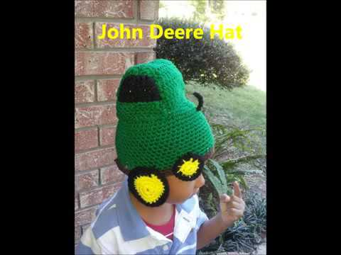 Crochet John Deere hat and more - YouTube ecffd05aeac