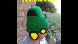 Crochet John Deere hat and more