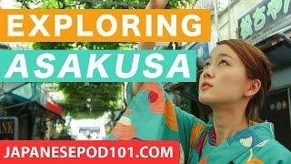 Exploring Asakusa in Tokyo: Japanese Streets, Food & More! Risa's Vlog