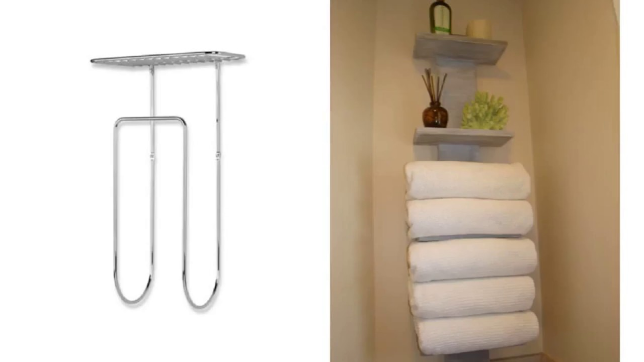 Inspiring Wall Mounted Towel Rack For Rolled Towels You
