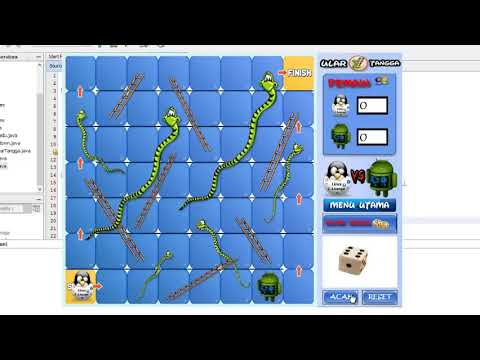 Snakes And Ladders Game Using Java Programming