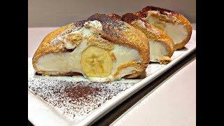 Embelsir e Leht Pa Pjekje me Keksa dhe Banane - Rulo Şeklinde Pişmeyen Kedidilli Muzlu Pasta