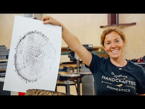How To Make Prints From A Tree Ring