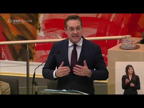 Heinz-Christian Strache (FPÖ) nimmt Innenminister Kickl in Schutz