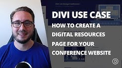 How to Create a Digital Resources Page with Divi's Design Conference Layout Pack
