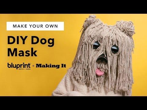 DIY Dog Mask 🐶   A Furry & Funny Homemade Costume Idea