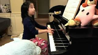 Claire plays Barcarolle, Burgmuller, op 100, no 24