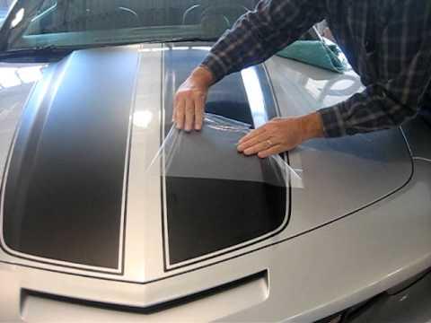 2010 Camaro Black Rally Stripe Installation Part 2 Youtube