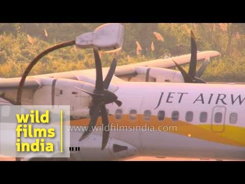 Jet Airways flight departs from Lengpui airport, Mizoram
