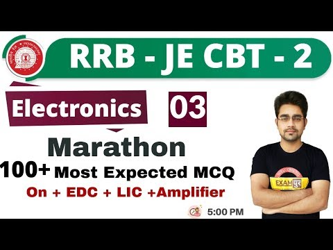 Class 03 ||#RRB JE (CBT -2 ) || Electronics || By Sameer Sir || 70 +   Most expected questions