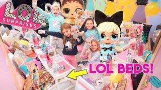 LOL DOLLS SURPRISE SLEEP OVER PARTY! *we didn't tell her it was her birthday*