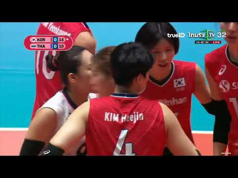 [Full Match] ไทย vs เกาหลีใต้ วอลเลย์บอลหญิงชิงเเชมป์เอเชีย 2019