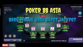 Poker 88 Asia Online Baru Maen Udah Dapet Jackpot Youtube