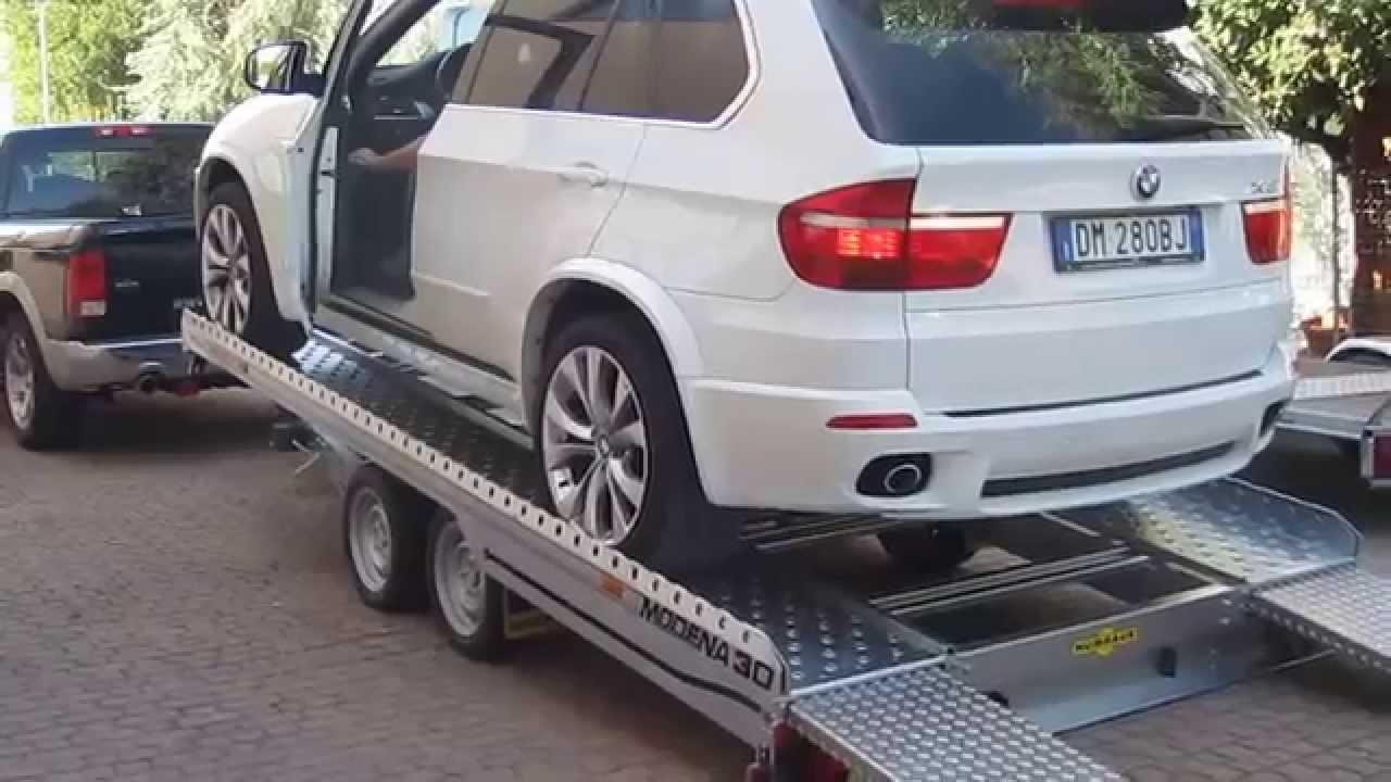 Rimorchio Trasporto Auto 3000 Kg Con Basculante E Rampe Youtube