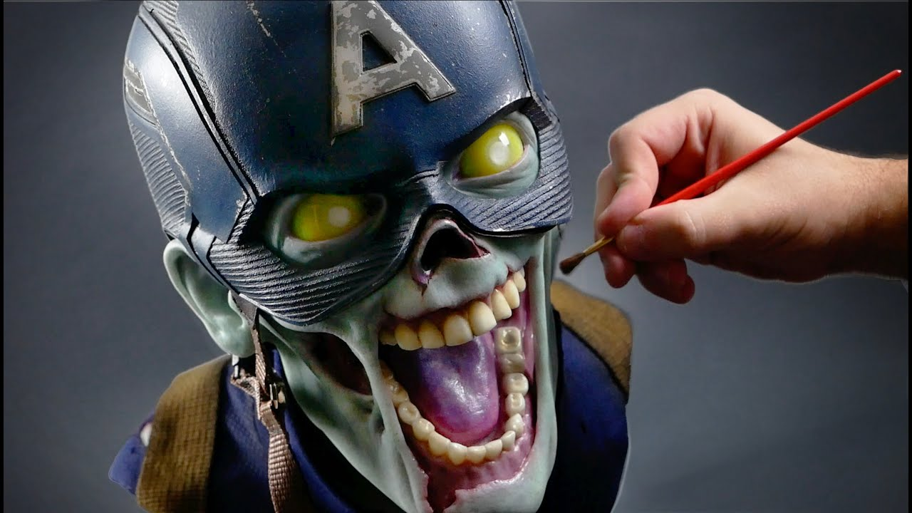 Zombie Captain America Sculpture Timelapse -  What If...?