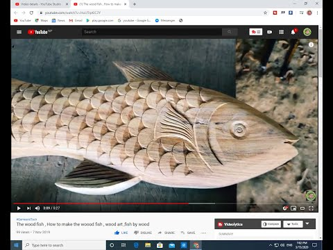 The Wood Fish , How To Make The Woood Fish , Wood Art ,fish By Wood