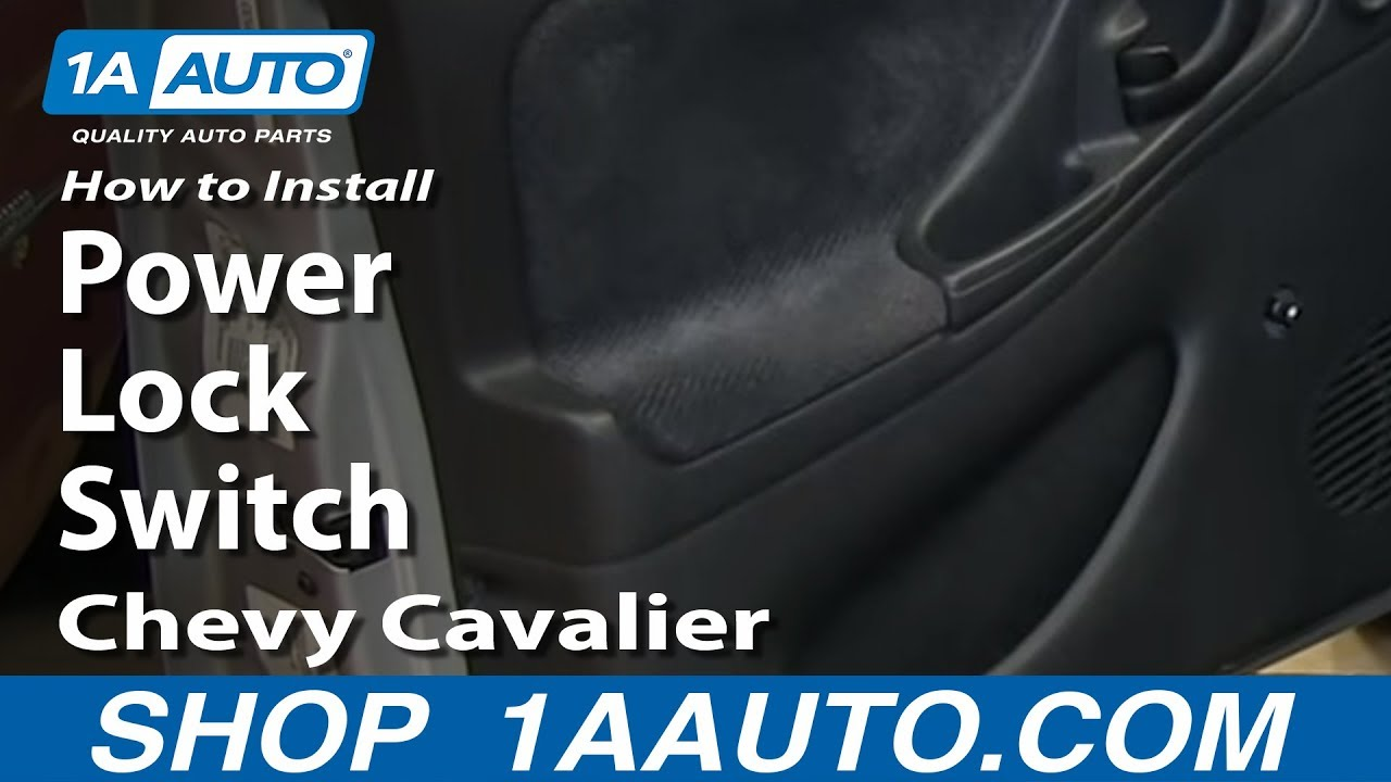 How To Install Replace Power Lock Switch 2000 05 Chevy