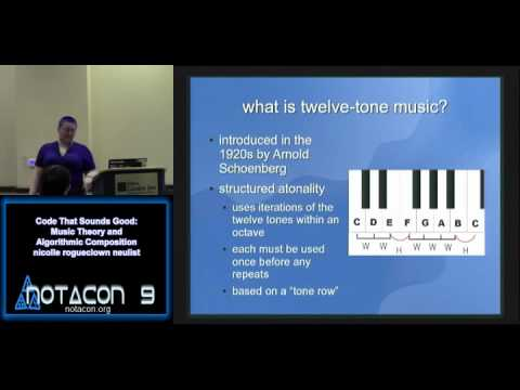 NOTACON 9: Code That Sounds Good: Music Theory and Algorithmic Composition (EN)