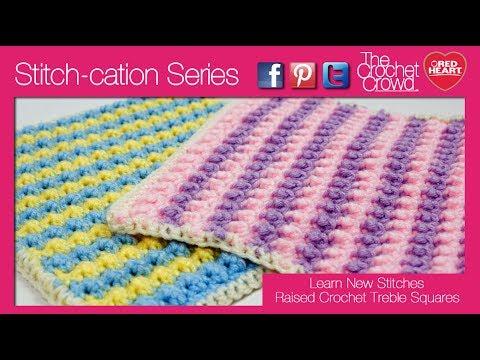 How To Crochet Raised Treble Stitch Left Handed Youtube