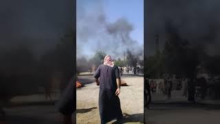 """مظاهرات تندد بانتهاكات """"قسد"""" في الهرموشية غرب دير الزور"""