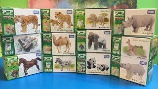 12 различных игрушки животных - Япония TAKARA Tomy - HD сборник (00406 ru)