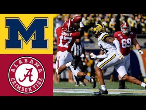 #14 Michigan Vs #13 Alabama Citrus Bowl Highlights | 2020 College Football Highlights