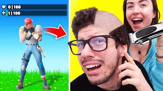 IF I LOSE, SHE SHAVES MY HEAD! (Fortnite Challenge)